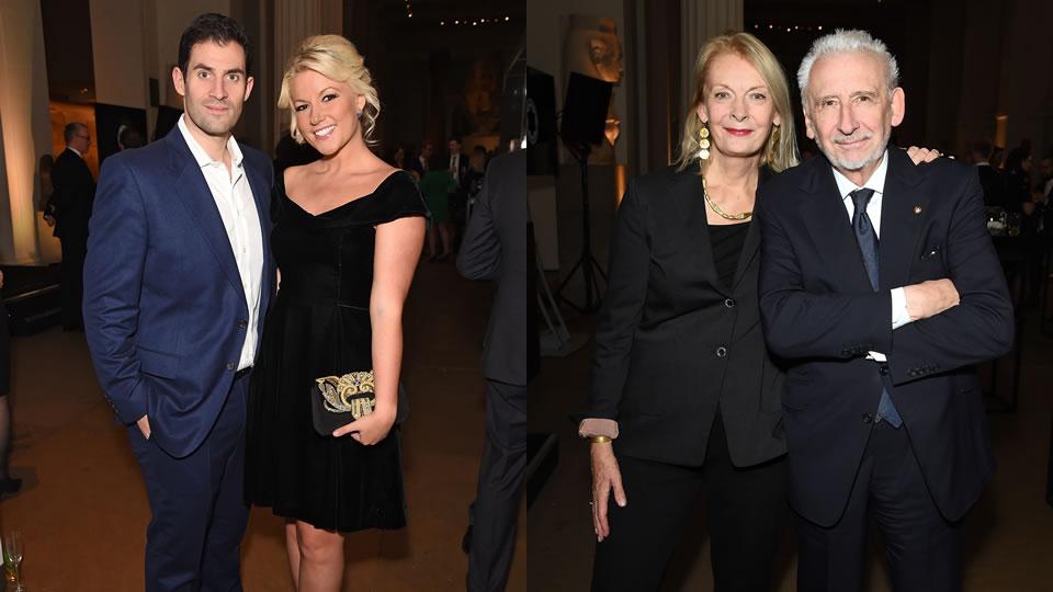 Left: Zafar Rushdie & Natalie Coyle Right: Lady Frances Sorrell & Sir John Sorrell