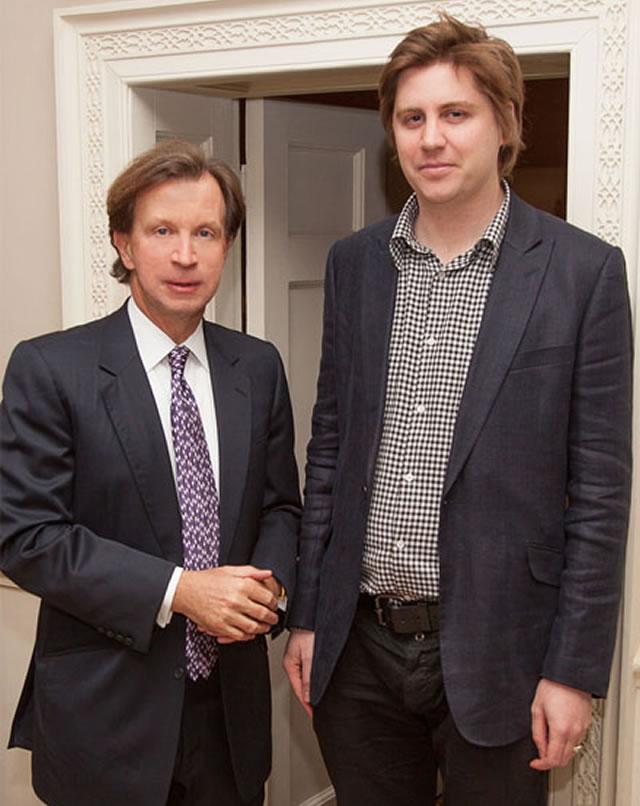 Hamish Dunbar with John Studzinski