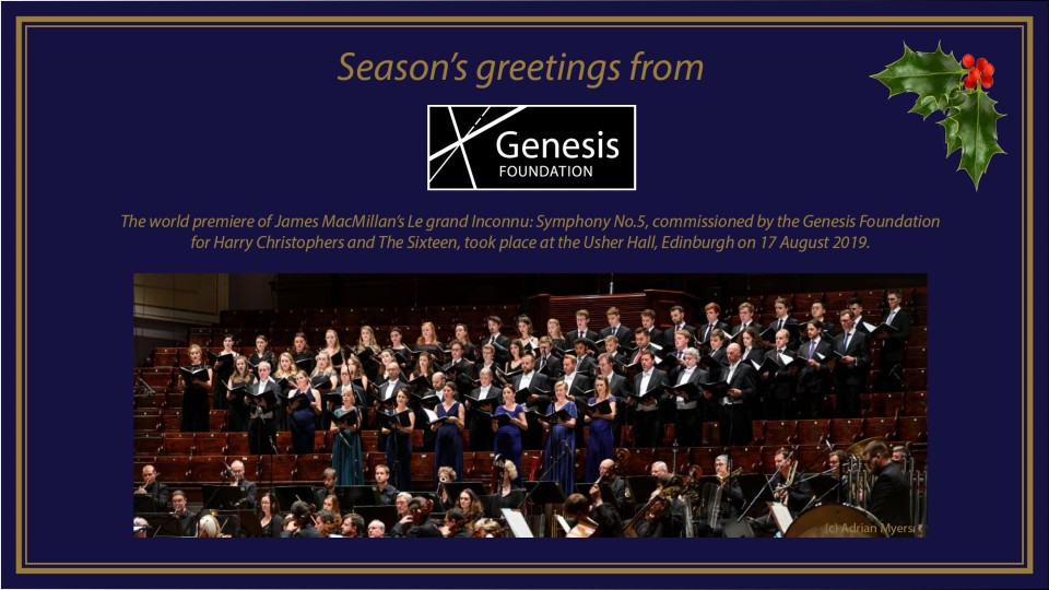 Season's greetings from the Genesis Foundation