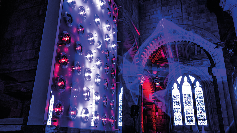 LIGHT at the end of the tunnel – Chris Levine's art installation welcomes visitors back to Durham Cathedral